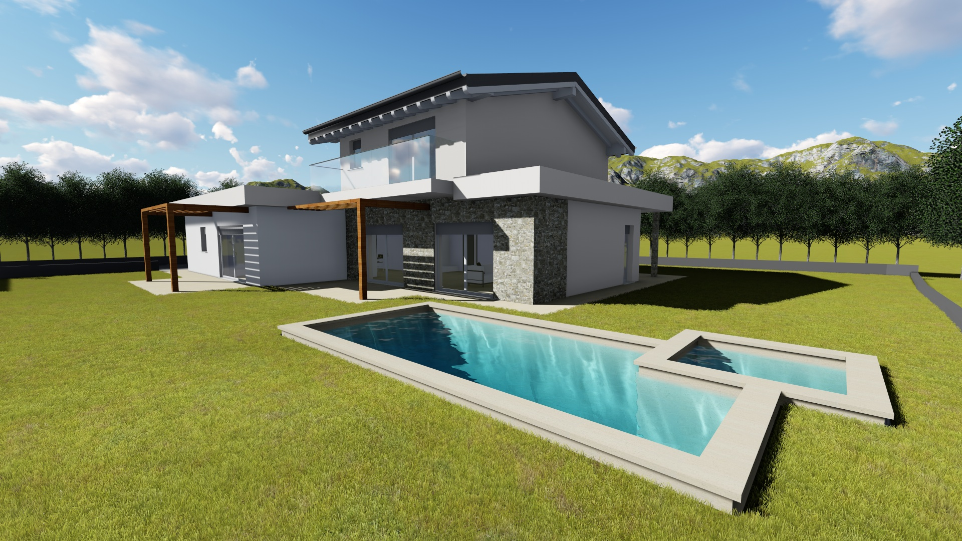 Villa x lam bifamiliare su due piani cornago varese for Bloccare i piani domestici